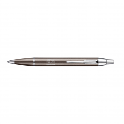"""Parker IM"" pen with a press mechanism metal / silver"